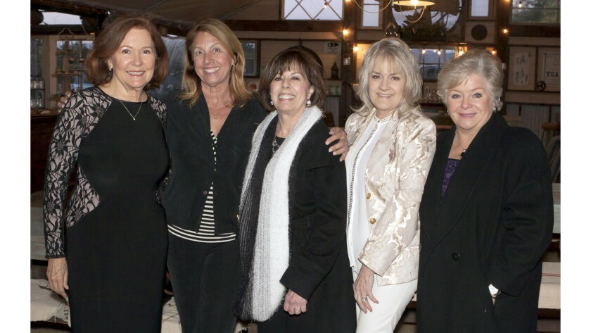 Catherine Sloan, Barbara Melum, Event Co-Chair Joanne Johnston, Assistance League of Newport-Mesa P
