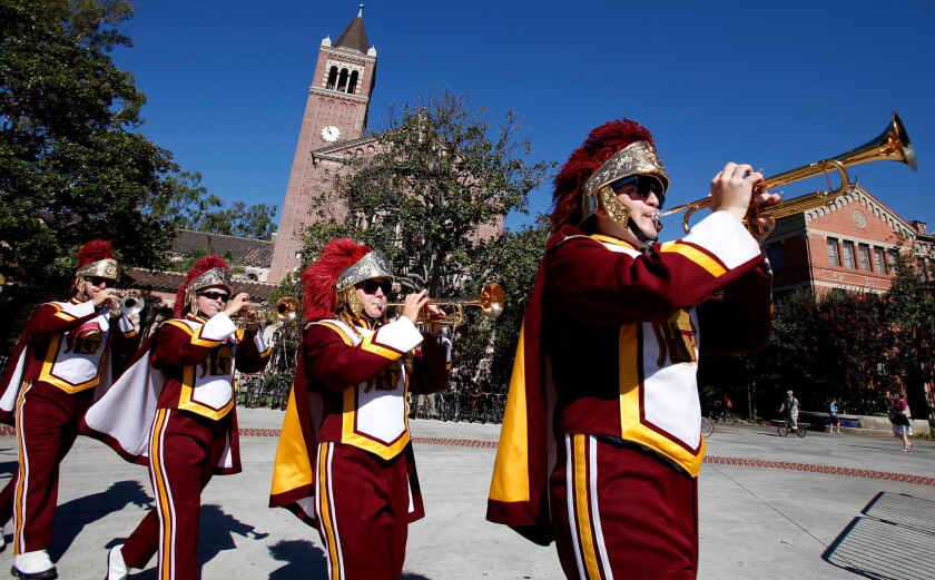 """The USC marching band stakes an original claim to playing Fleetwood Mac's """"Tusk"""" because members of the band in 1979 performed on the original recording."""