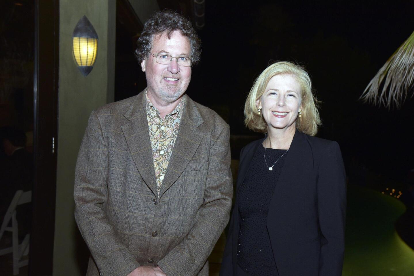 UCSD Theatre & Dance promotions manager Mark Maltby, Arts & Humanities Senior director of development Julie Bronstein