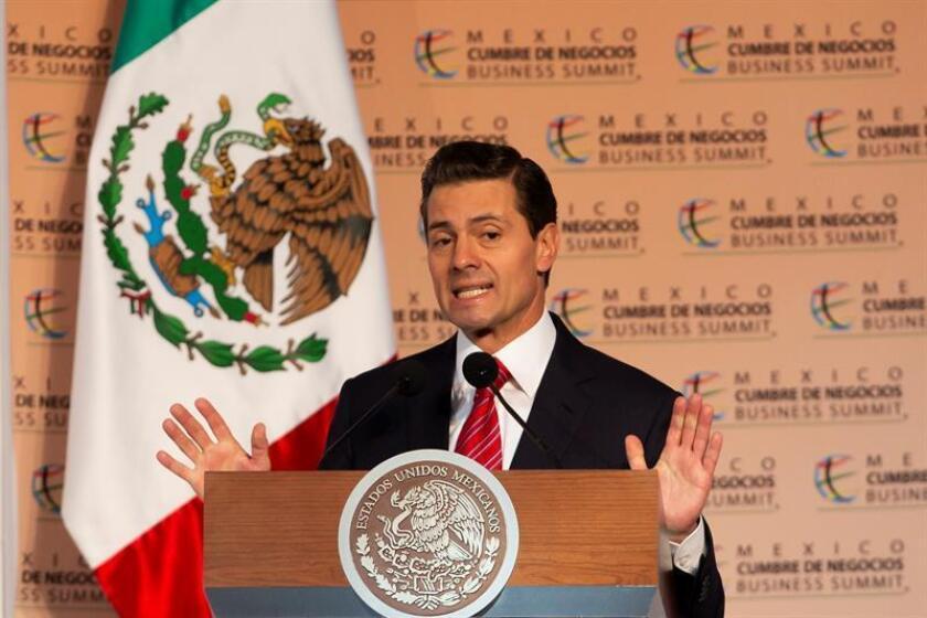 Fotografía de archivo del presidente de México, Enrique Peña Nieto. EFE/Archivo