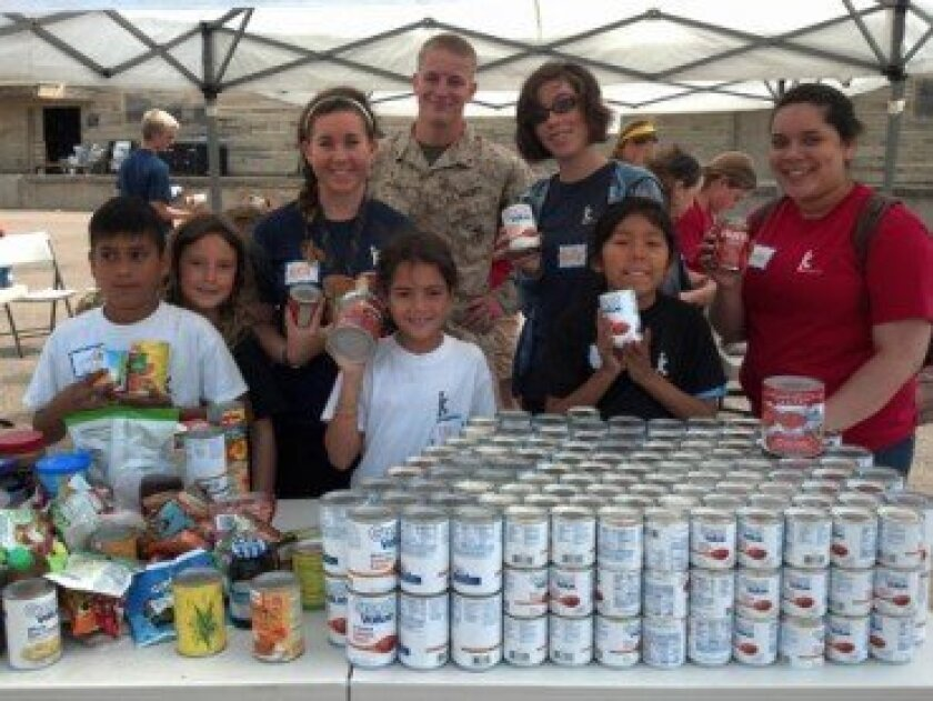 Sorting food for military families