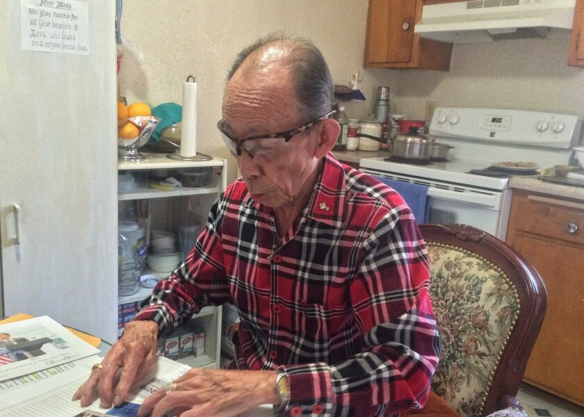 Jose Zara, 86, has lived in Penasquitos Village for 15 years and has begun a letter writing campaign to try and stop the redevelopment. In addition to city officials, he has written presumptive Democratic presidential nominee Hillary Clinton.