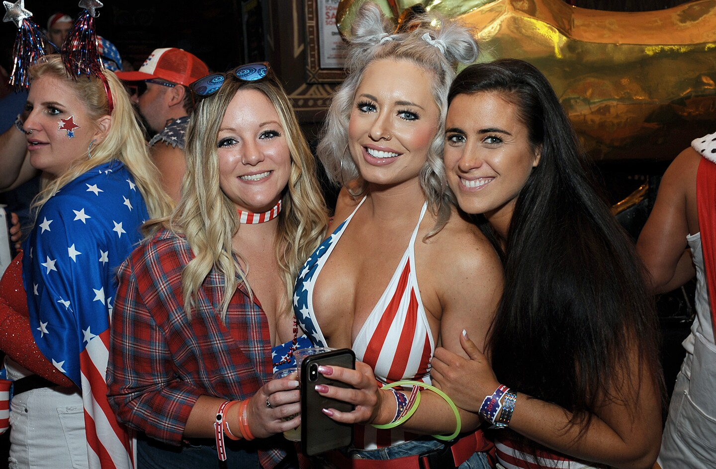 San Diegans celebrated Memorial Day Weekend at Sing Dance Crawl, a patriotic bar crawl through the Gaslamp, on Saturday, May 25, 2019.