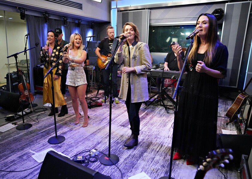 The Highwomen Perform Live On SiriusXM's The Highway Channel At The SiriusXM Studios In New York City