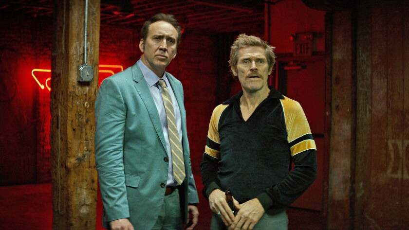 """Nicolas Cage, left, and Willem Dafoe in the movie """"Dog Eat Dog."""""""