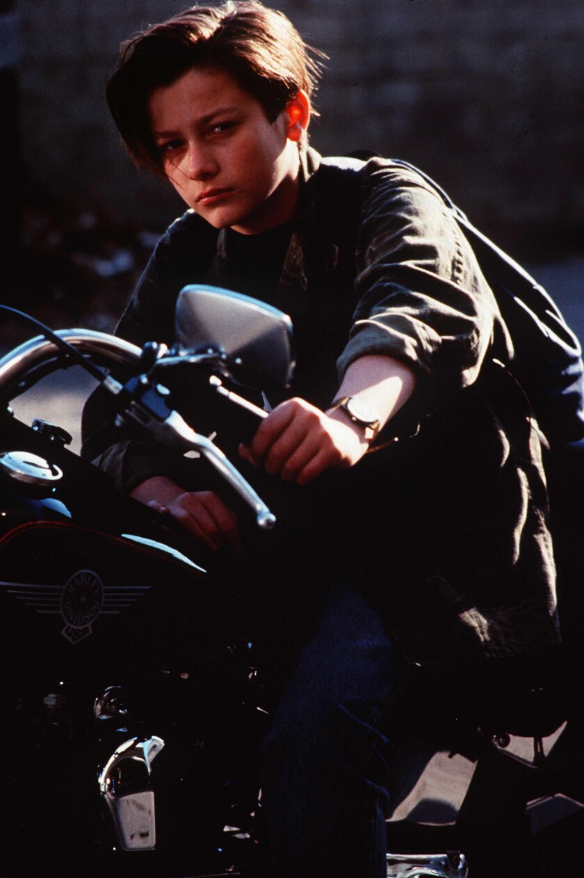 "Edward Furlong as John Connor in ""Terminator 2: Judgment Day"" from 1991."