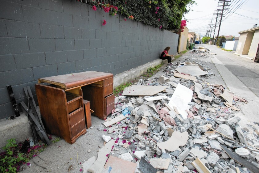 L.A. illegally dumped trash