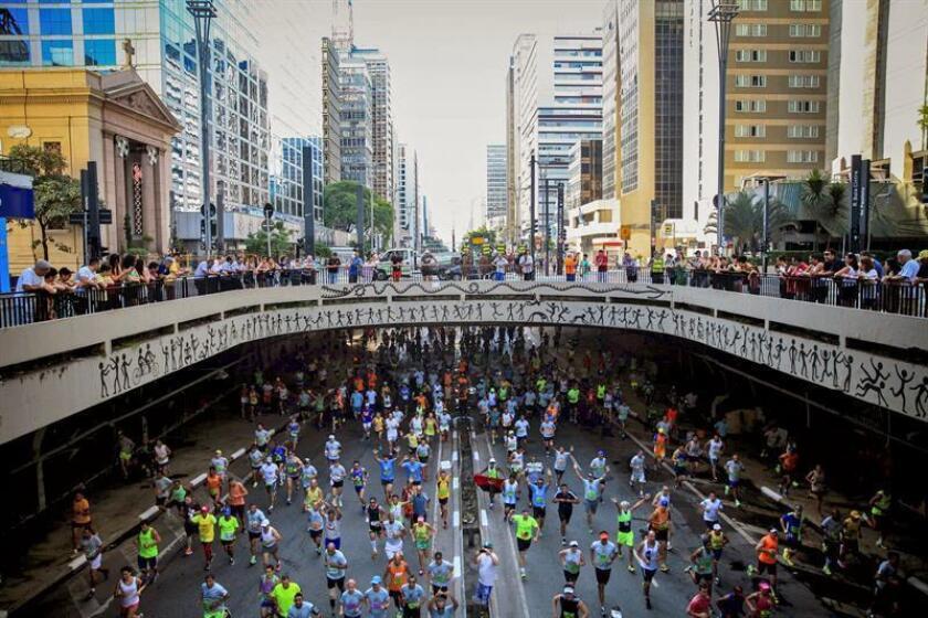La prueba recorrerá 15 kilómetros por calles y avenidas de Sao Paulo, y la salida está prevista para las 8.20 hora local (10.20 GMT). EFE/Archivo