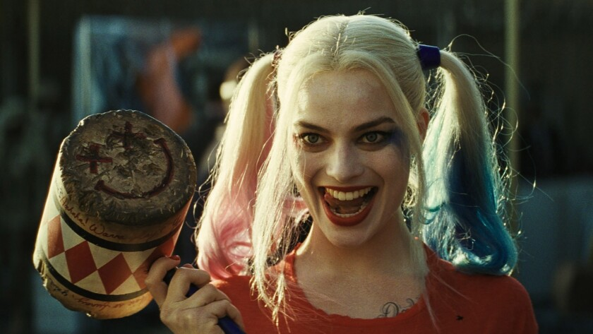 """With her dye-tipped pigtails, mallet and Joker-wide smile, Harley Quinn, played by Margot Robbie in """"Suicide Squad,"""" is a character we're seeing a lot of this summer."""