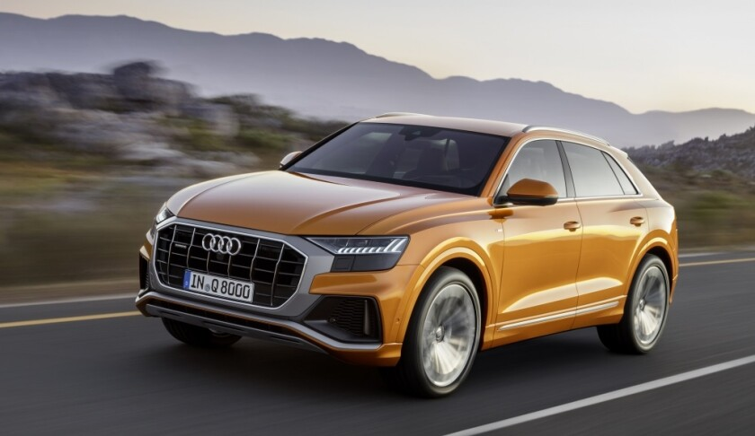 The Q8 Prestige tester was $88,845, including a 335-hp, turbocharged V-6 engine, eight-speed automatic transmission and Quattro all-wheel drive.