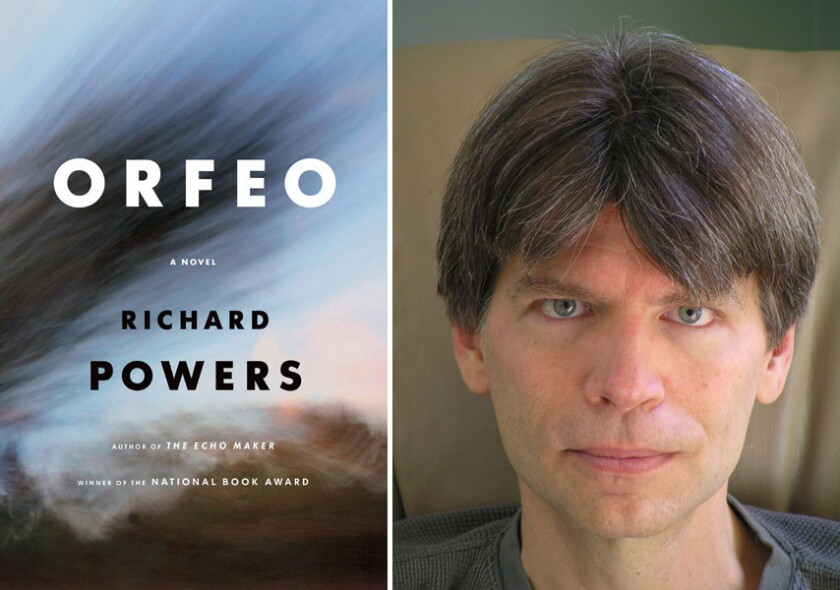 """Richard Powers explores the collusion between music and science, art and terror in his latest novel, """"Orfeo,"""" which follows a composer who dabbles in genetics."""