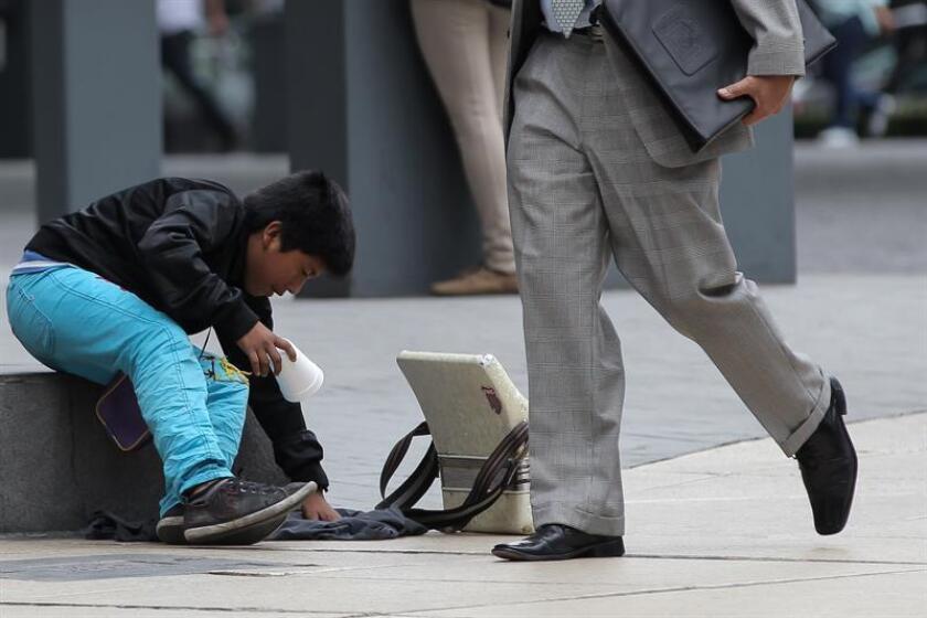 Unos 3,2 millones de niños, niñas y adolescentes trabajan en México para escapar de la pobreza, lo que representa el 11 % de la población de 5 a 17 años, informó hoy el Instituto Nacional de Estadística y Geografía (Inegi). EFE/Archivo