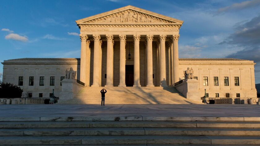 This Feb. 17, 2016, photo shows the Supreme Court building in Washington, D.C. The justices have been asked to throw out the death sentence for an Alabama man because the state's procedures run afoul of recent Supreme Court rulings on capital punishment.