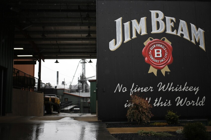 The Jim Beam bourbon distillery in Clermont, Ky. Japanese company Suntory Holdings is acquiring Beam Inc. for $13.6 billion.