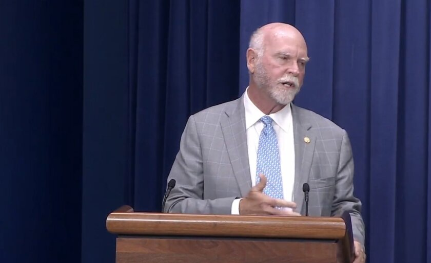 Craig Venter speaks at the unveiling of President Obama's National Microbiome Initiative.