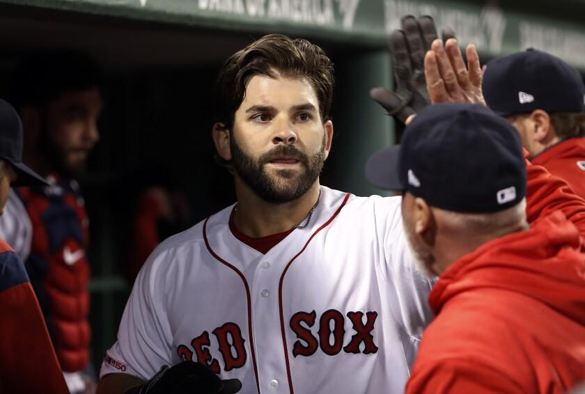 Red Sox-Moreland Baseball