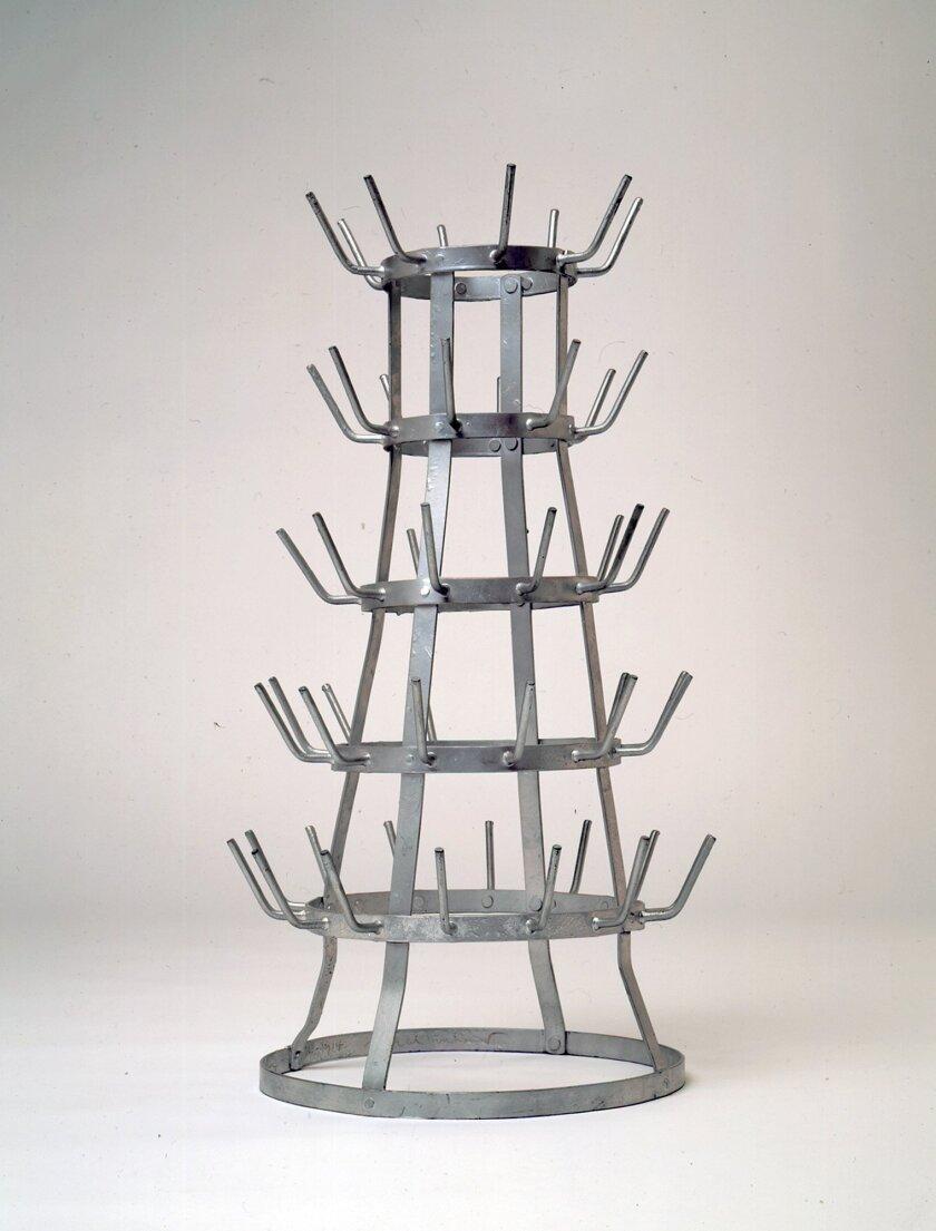 Bottlerack, 1963, replica of the 1914 original by Marcel Duchamp