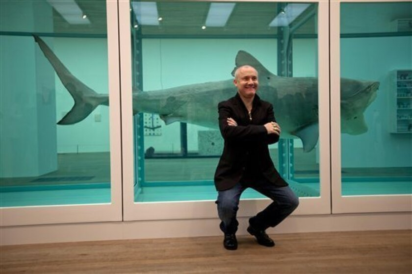 Skulls Sharks And Polka Dots In Damien Hirst Show The San Diego Union Tribune