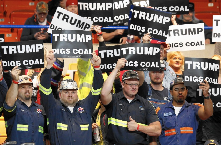 Donald Trump and coal
