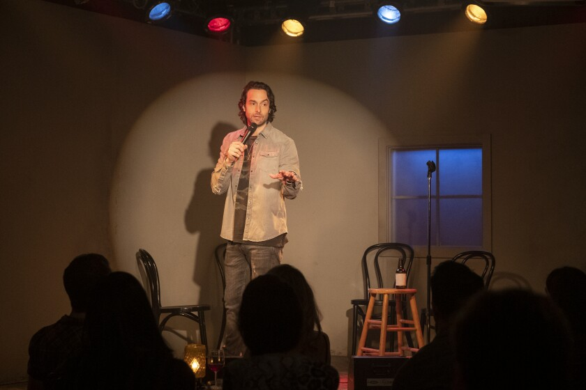 "Chris D'Elia appears in a scene from Season 2 of ""You"" on Netflix, which highlights L.A.'s comedy scene."