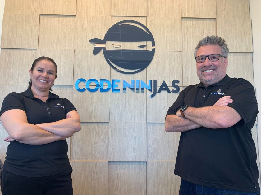 Alma and Ziggy Zendejas opened CodeNinjas in Chula Vista. The after-school learning center teaches children and teenagers to code in a fun environment.