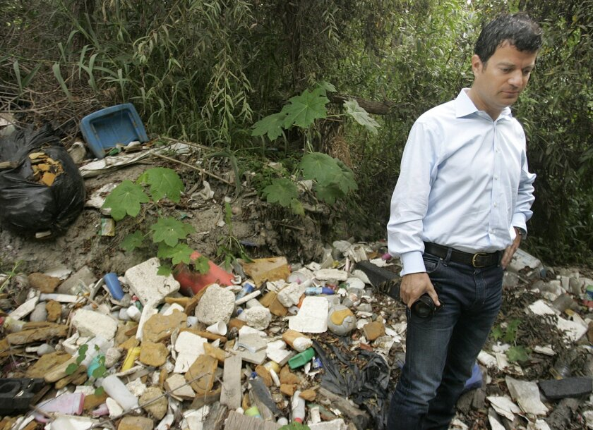 Jared Blumenfeld, regional administrator for the U.S. Environmental Protection Agency based in San Francisco, toured the international border on Wednesday to promote environmental solutions.