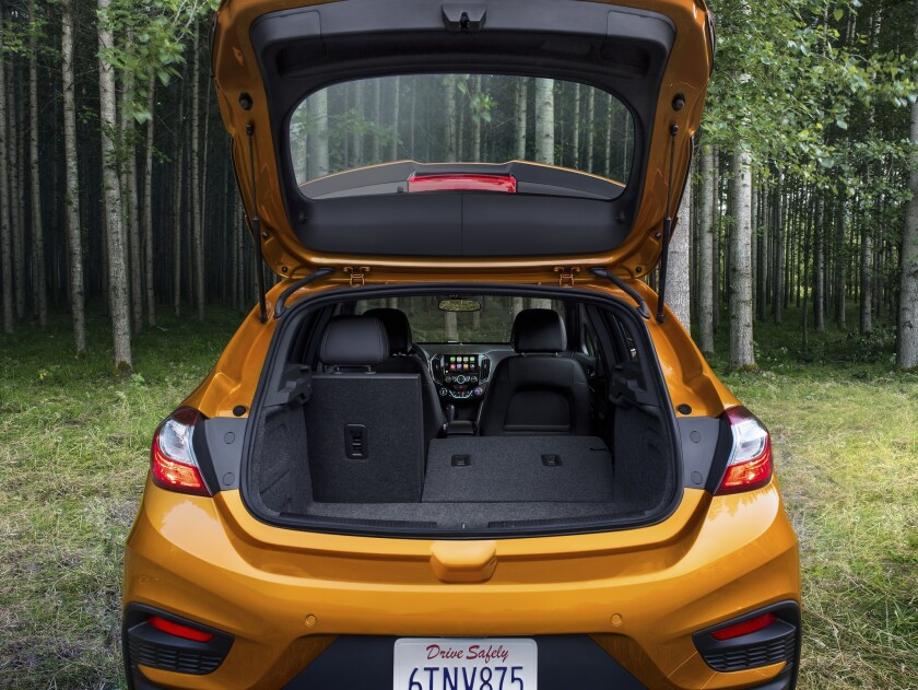 The cargo space of 24.7 cubic feet is broad and the seats fold easily for about 5 feet of length.