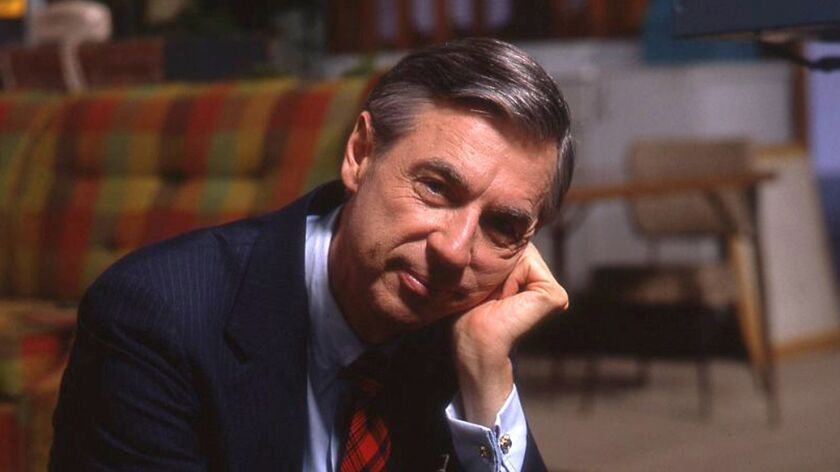 Fred Rogers on the set of his show Mr. Rogers Neighborhood from the film, WON'T YOU BE MY NEIGHBOR,