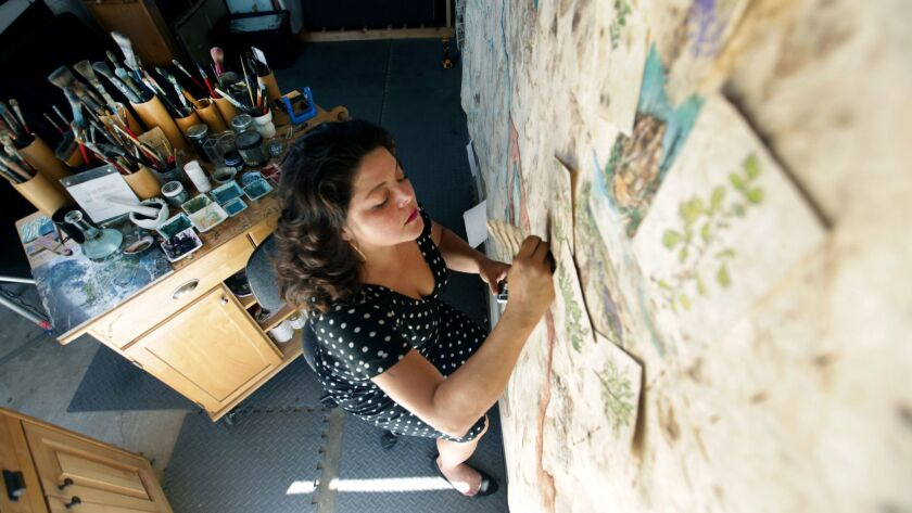 Sandy Rodriguez in her Los Angeles studio