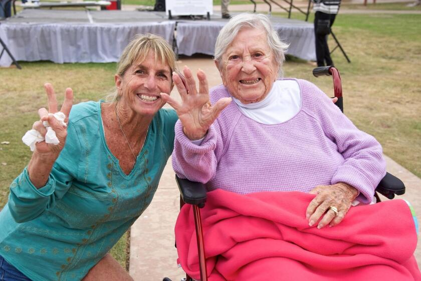 Kathy and Annie McDaniel at the 2018 PAESAN event in Crown Point Park, just a month before Annie died.