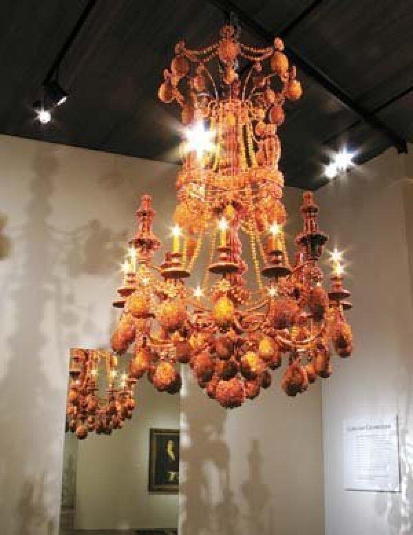 'Diadem' by Timothy Horn, 2008, crystallized rock sugar, plywood, steel. Photo: Courtesy
