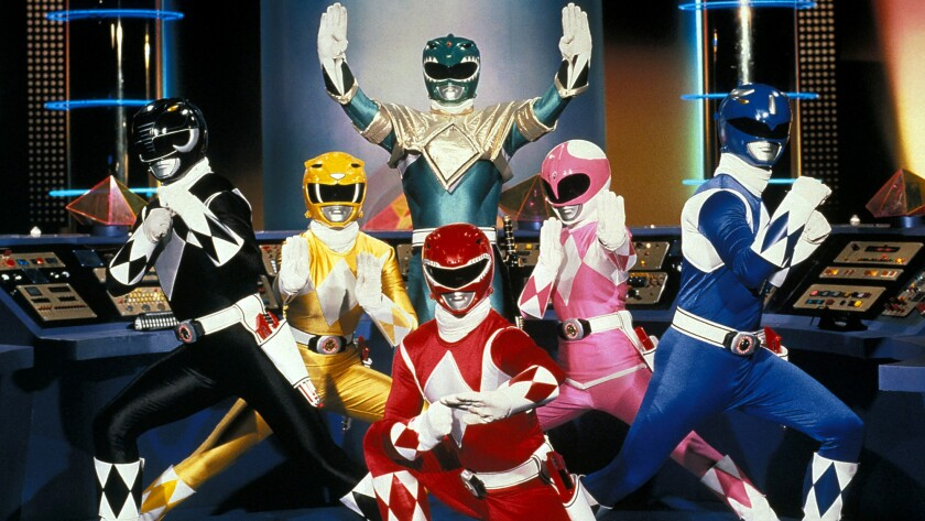 """A scene from the original TV show, """"Mighty Morphin Power Rangers,"""" circa 1993."""