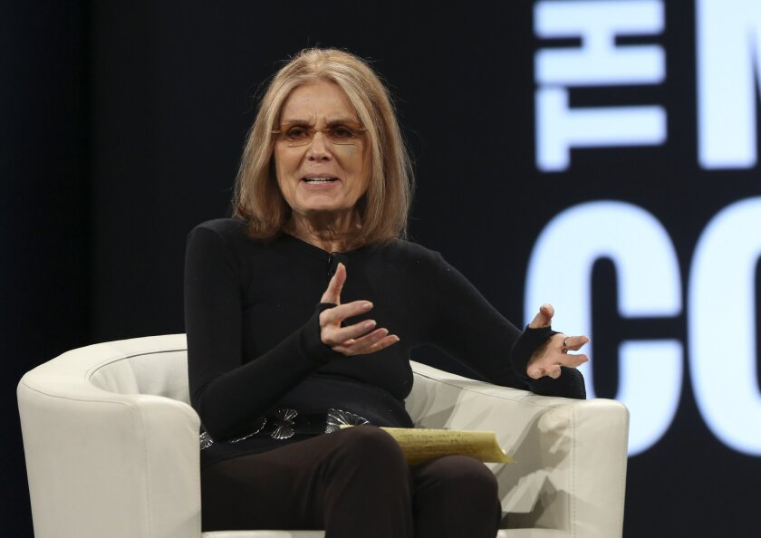 Feminist writer, anti-abortion lightning rod, and (former) Lands' End model Gloria Steinem.