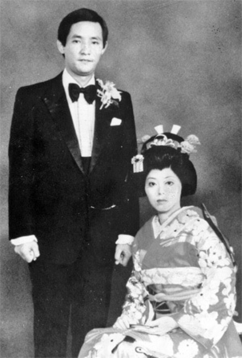 The Japanese businessman was wanted for allegedly hiring a gunman to shoot his 28-year-old wife, Kazumi, right, on a downtown Los Angeles street 27 years ago.