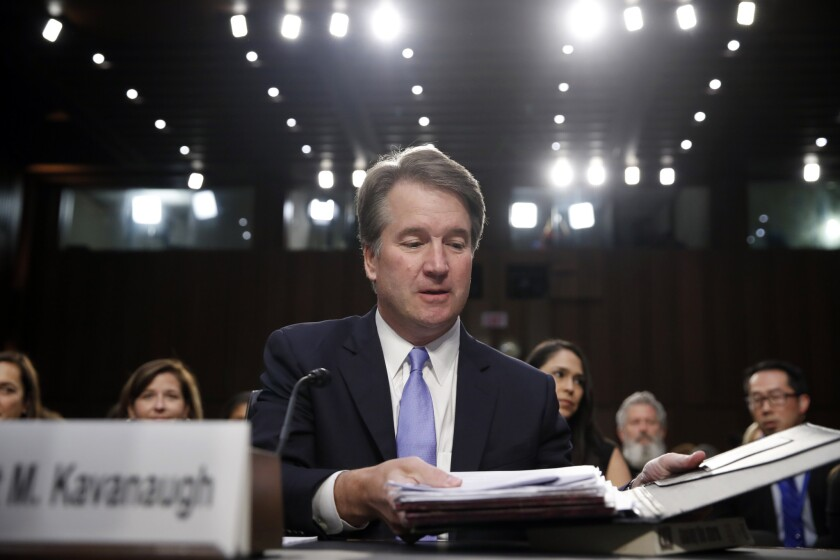 Letters to the Editor: The left's eagerness to destroy Brett Kavanaugh is disgraceful