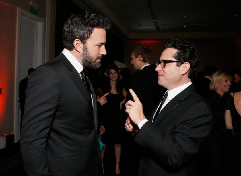 Ben Affleck and J.J. Abrams at the Producers Guild of America Awards at the Beverly Hilton.