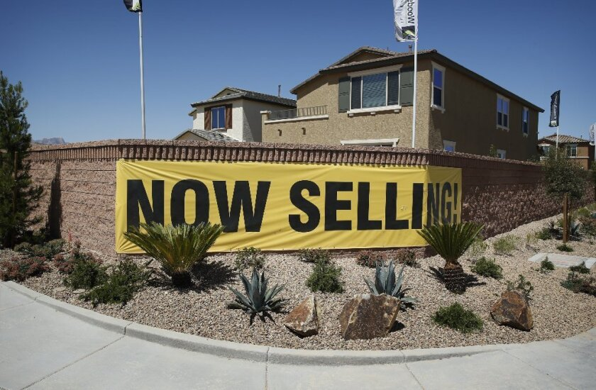 Interest rates on fixed-rate mortgages have moved higher for three consecutive weeks, Freddie Mac says. Above, homes for sale last month in Las Vegas.