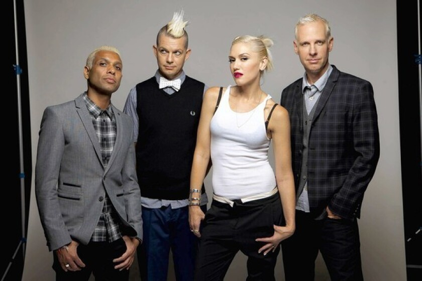 Members of No Doubt include Tony Kanal , left, Adrian Young, Gwen Stefani and Tom Dumont.