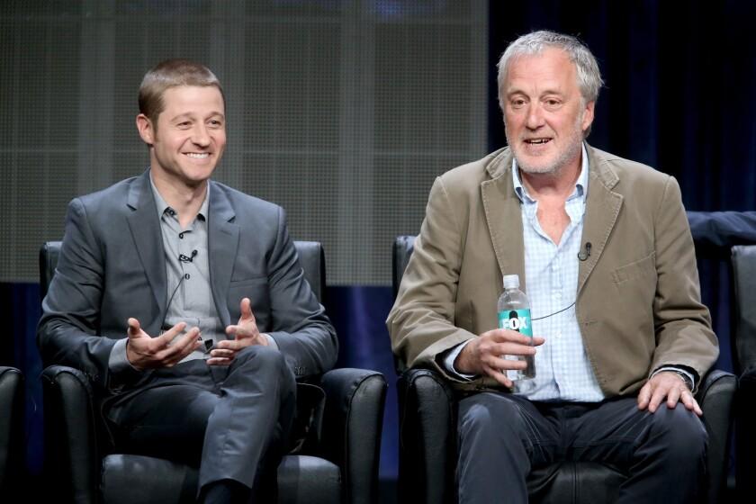 "Series star Ben McKenzie, left, and executive producer Bruno Heller talk about ""Gotham."""