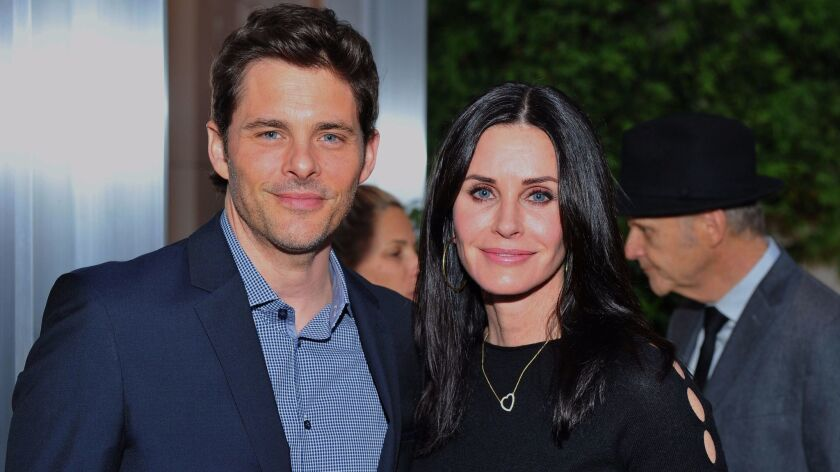 James Marsden and Courteney Cox attended the UCLA Institute of the Environment and Sustainability's annual gala on Monday in Beverly Hills.