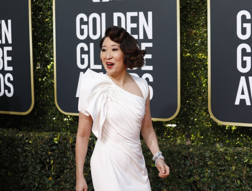 BEVERLY HILLS, CA-JANUARY 06: Sandra Oh arriving at the 76th Golden Globes at the Beverly Hilton Ho