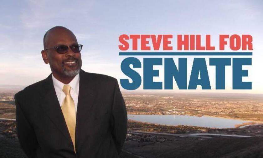 Hill nació en Missouri, fue sargento de la marina en Estados Unidos. Se mudó a California en 1980 y trabajó más de una década en la Correccional de California.