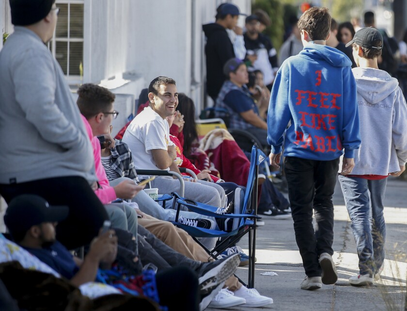 Hundreds of Kanye West fans lined-up and camped out for more than a block in the 300 block of North Fairfax Avenue in August for a chance to buy clothing by the rapper-turned fashion mogul.