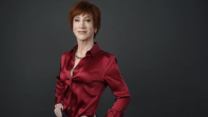 Comedian Kathy Griffin poses for a portrait in Los Angeles, before being honored in June by West Hollywood for raising more than $5 million for HIV/AIDS services and LGBTQ causes.