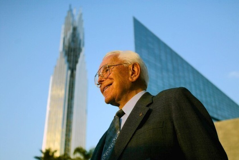 The Rev. Robert H. Schuller, who died in 2015, founded the Crystal Cathedral Ministries in 1955.