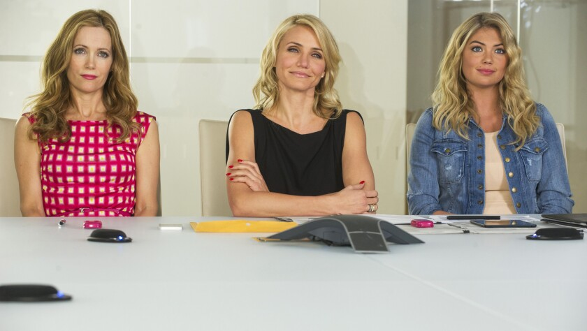 "Leslie Mann, left, Cameron Diaz and Kate Upton in ""The Other Woman."""