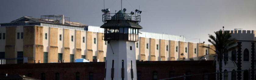 The guard tower at San Quentin State Prison.