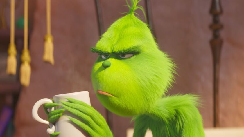 This image released by Universal Pictures shows the character Grinch, voiced by Benedict Cumberbatch