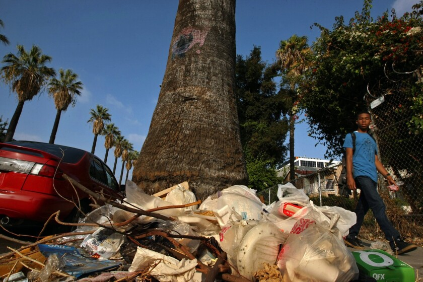 Illegal dumping in Los Angeles