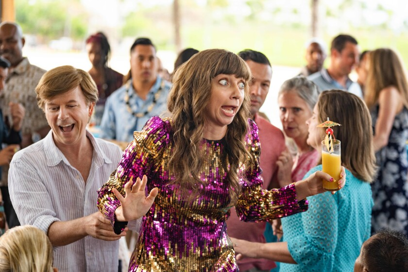 """David Spade as Tim Morris and Lauren Lapkus as Missy in the Happy Madison comedy """"The Wrong Missy."""""""